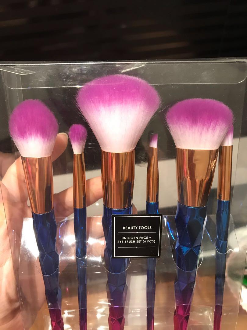 Mailing Unicorn Face Eye Brush Set 6pc
