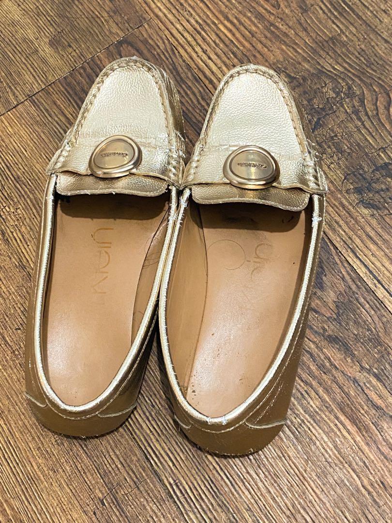 Gold Calvin Klein Flats / Doll Shoes