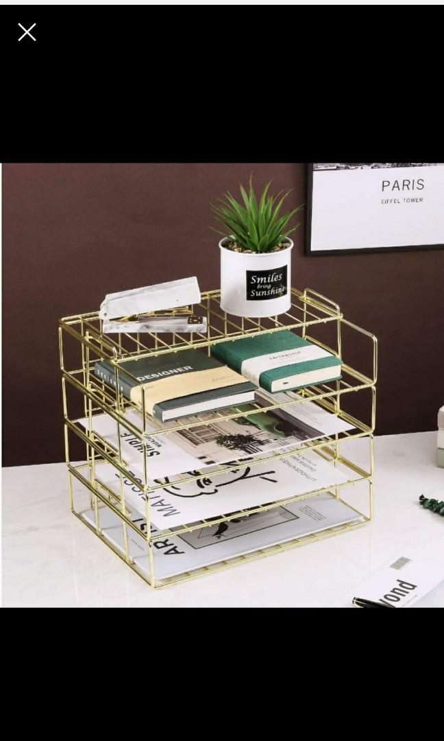 Large Gold paper tray (4 tier)