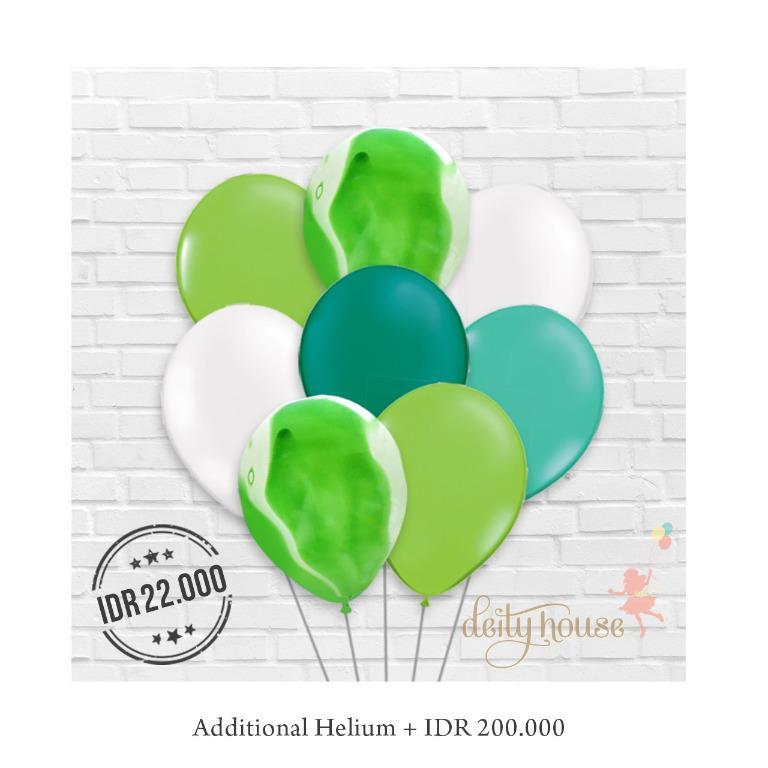 Green Mix Latex Balloons Bundle
