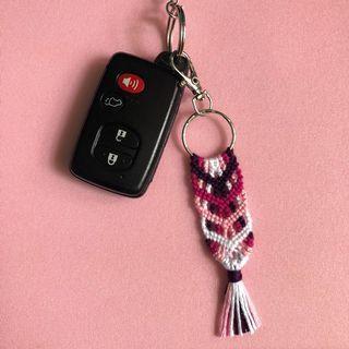 Handmade chevron keychain