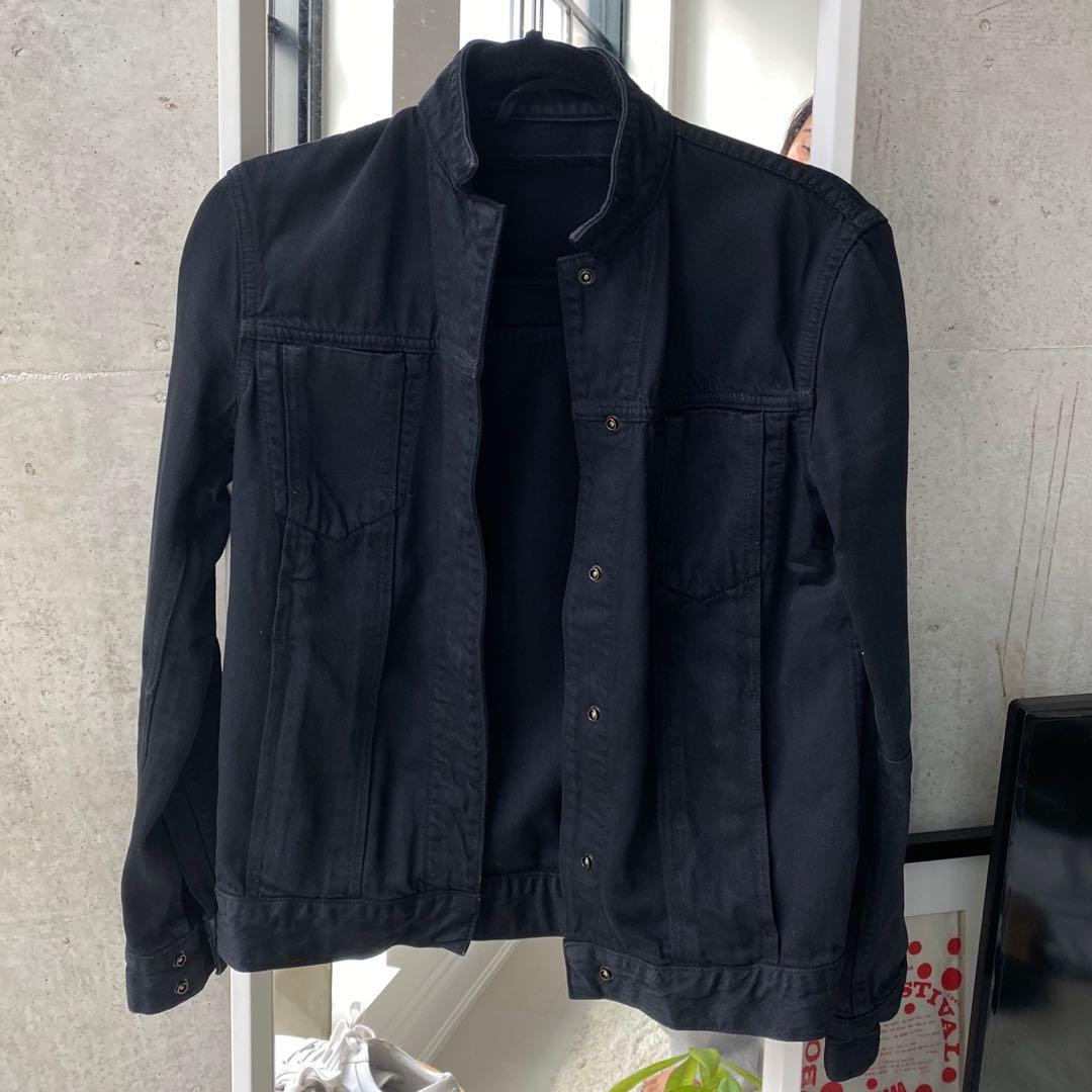 HELMUT LANG Stand-collar denim jacket (S)