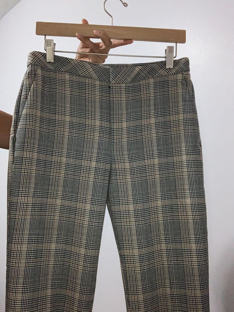 H&M Plaid Pants SIZE 8