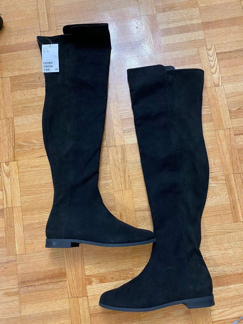 H&M Thigh high flat boots