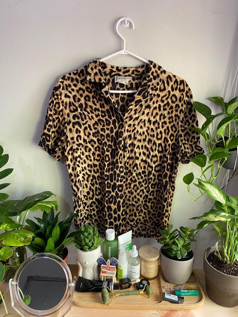 Leopard Button Up Tee