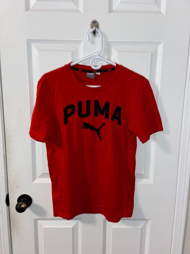 Men's Red Puma T-Shirt Small