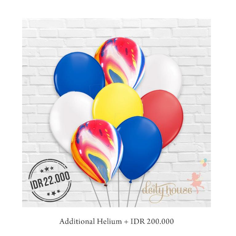 Multicolor Mix Latex Balloons Bundle