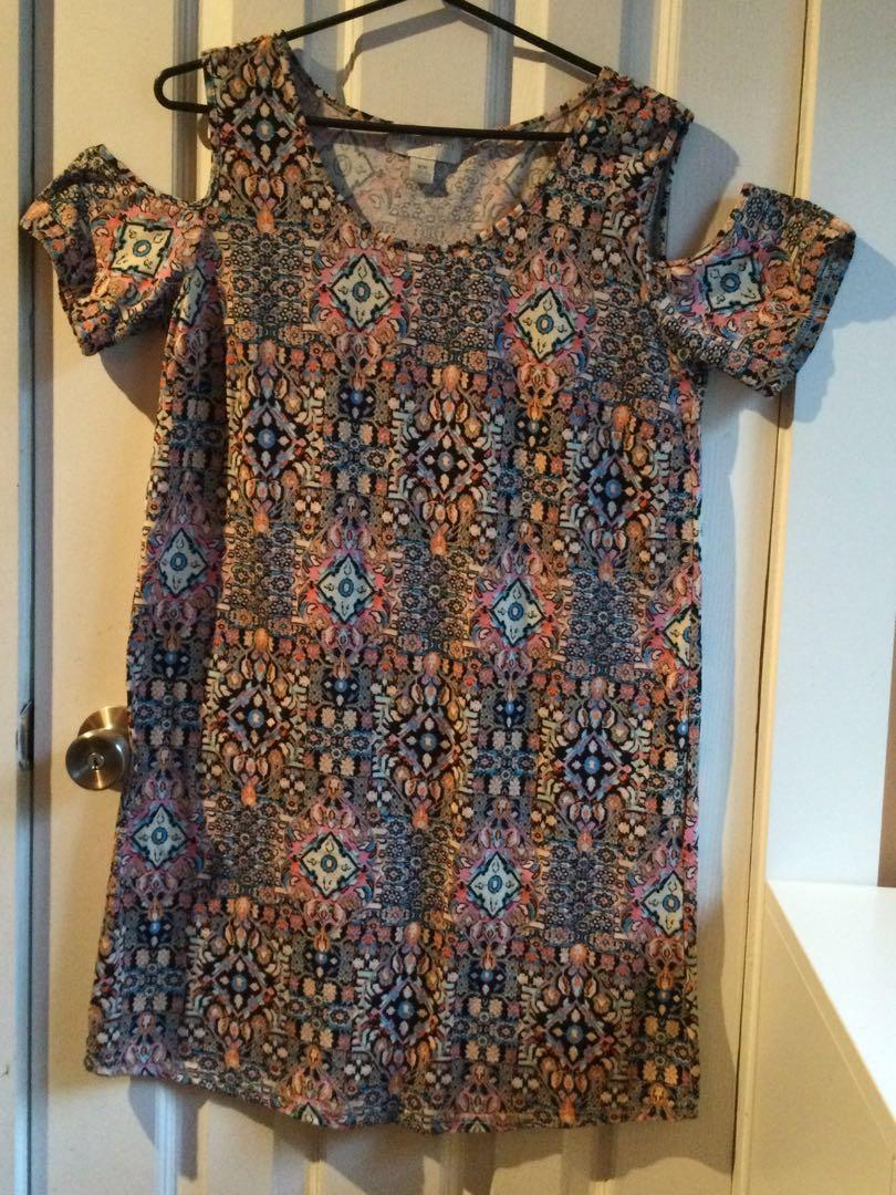 Patterned dress size s/m