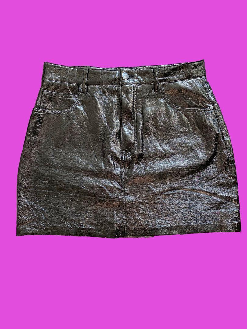 Pull & Bear Latex Mini Skirt