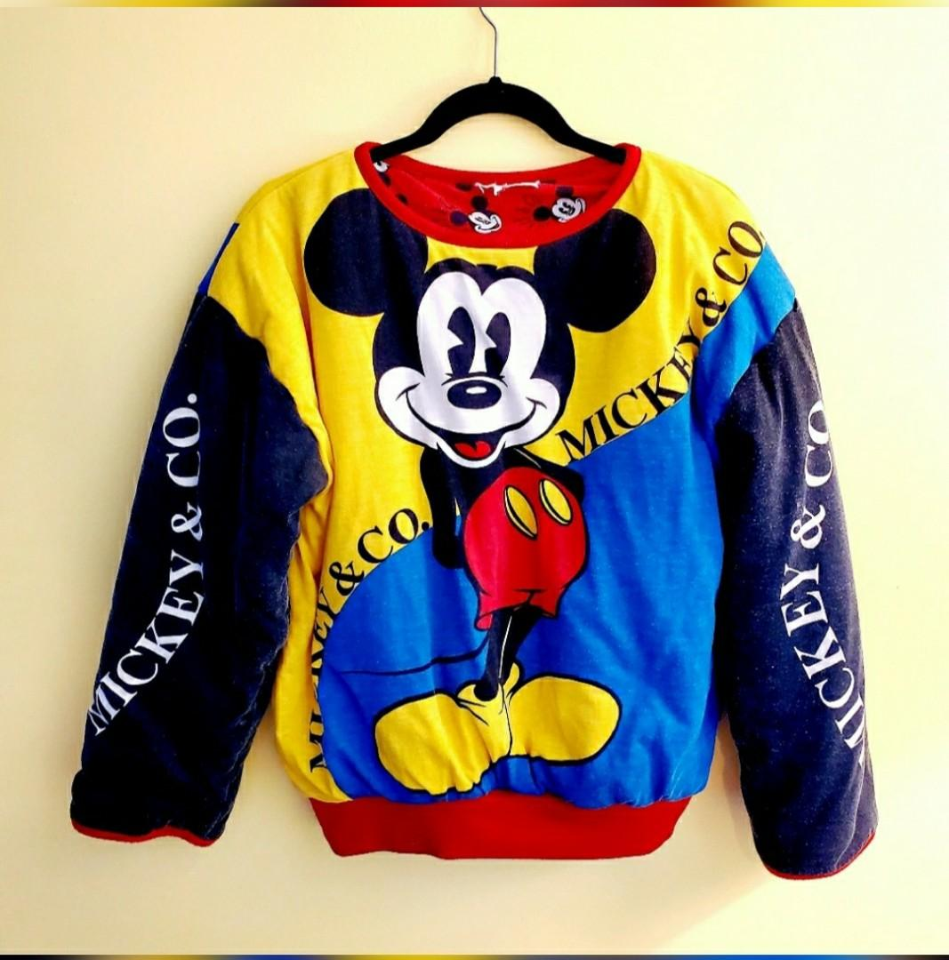 RARE 80's Don Kenny Mickey & Co Mickey Mouse Reversible Sweater