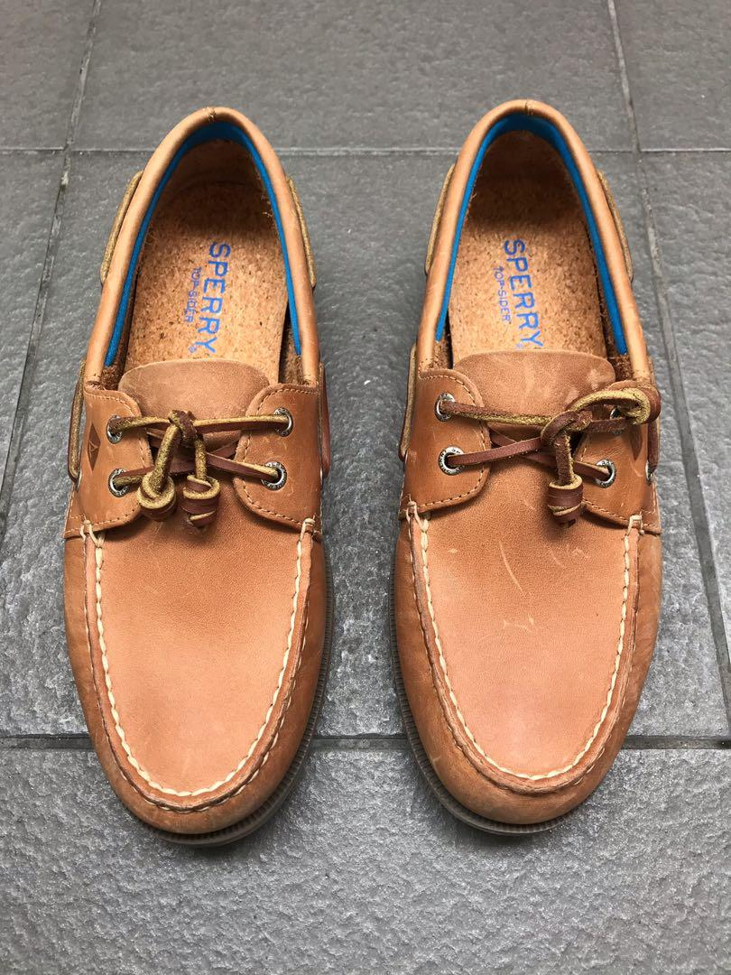 Sperry Leather Boat Shoes w/ Free