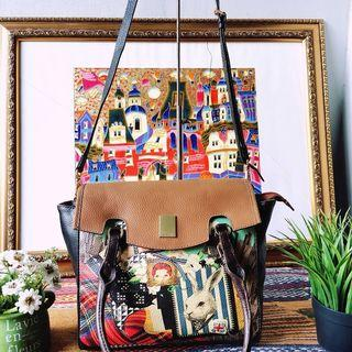 Tas Brera Italy Art Fever Large Tote Bag Authentic #End of Year Sale