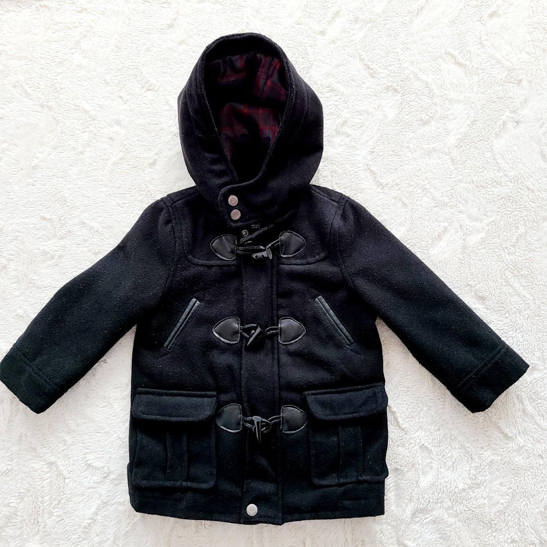 Urban Republic Boys Black Wool peacoat with Hood