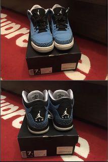 Air Jordan 3 retro Powder Blue US 7 40 7Y