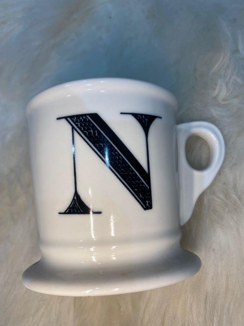 Anthropologie monogram mug letter N