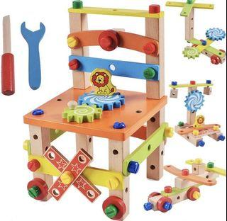 [BNIB] Build your own Wooden Chair and Toys