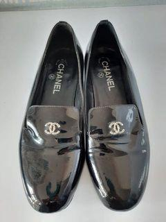 Chanel pearl loafers