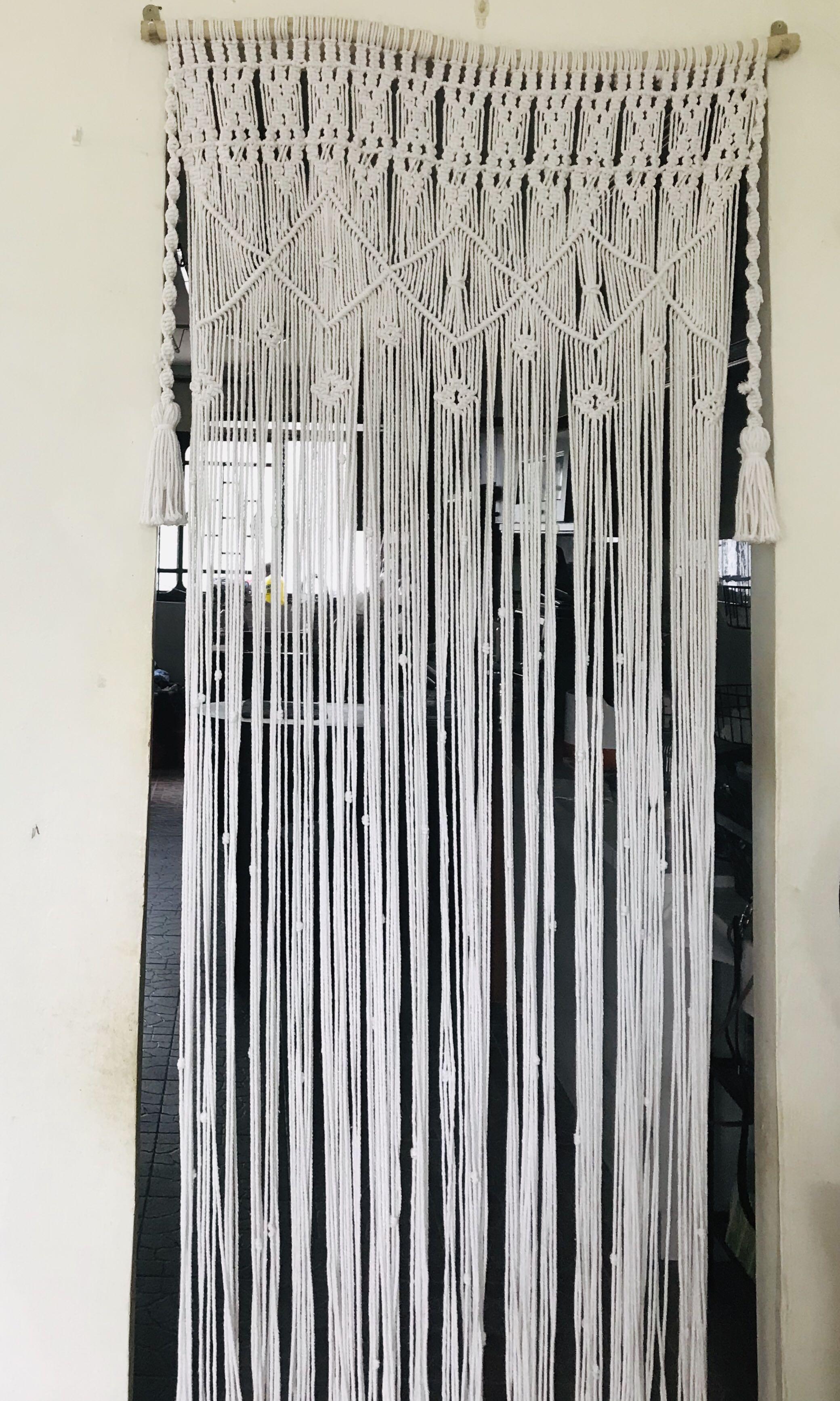 Meter Bistro Curtain Beige handmade