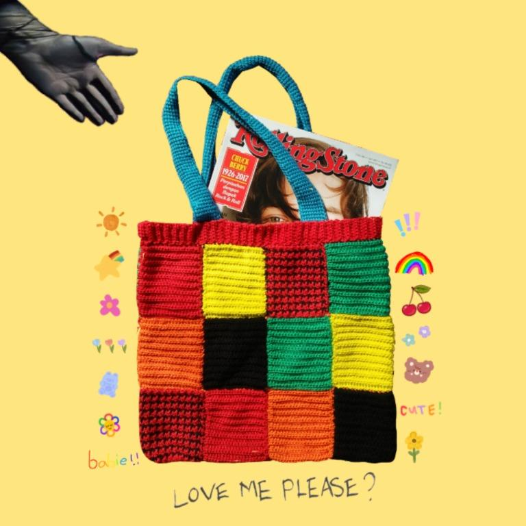 Harry Styles Crocheted Tote Bag (JW Anderson Cardigan-Inspired)