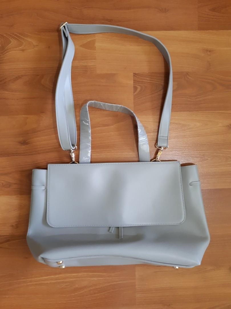 Hudson's Bay   Grey Top Handle Bag