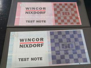PROMOTION Rare ATM Test Note 10 & 50 MALAYSIA Ringgit