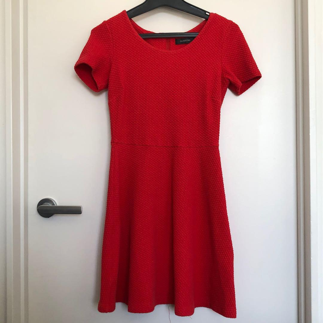 Red Glassons Dress