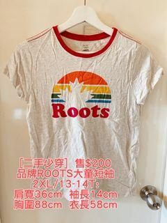 roots 大童短袖 成人可穿