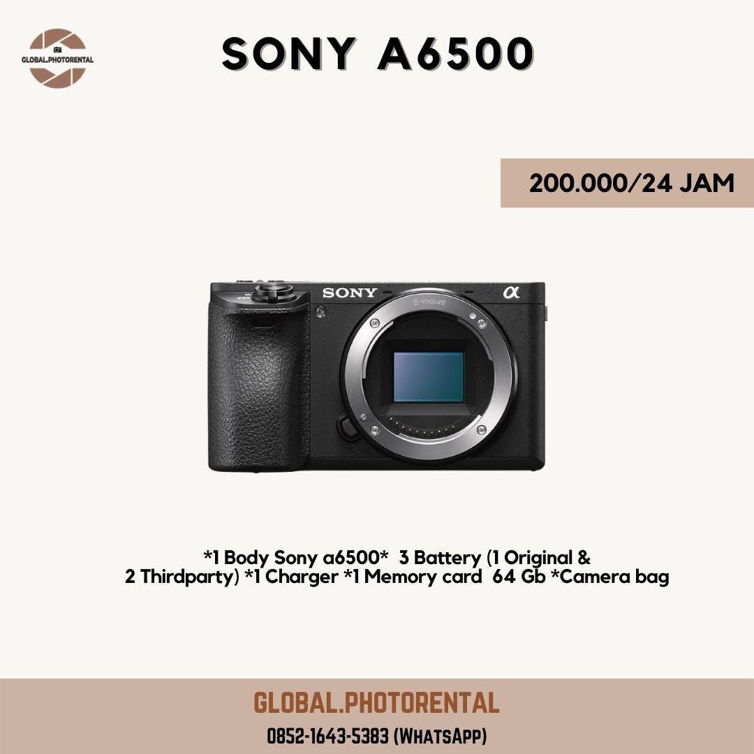 Sewa sony a6500 body