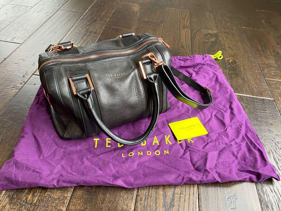 Ted Baker Black Leather Bag With Strap