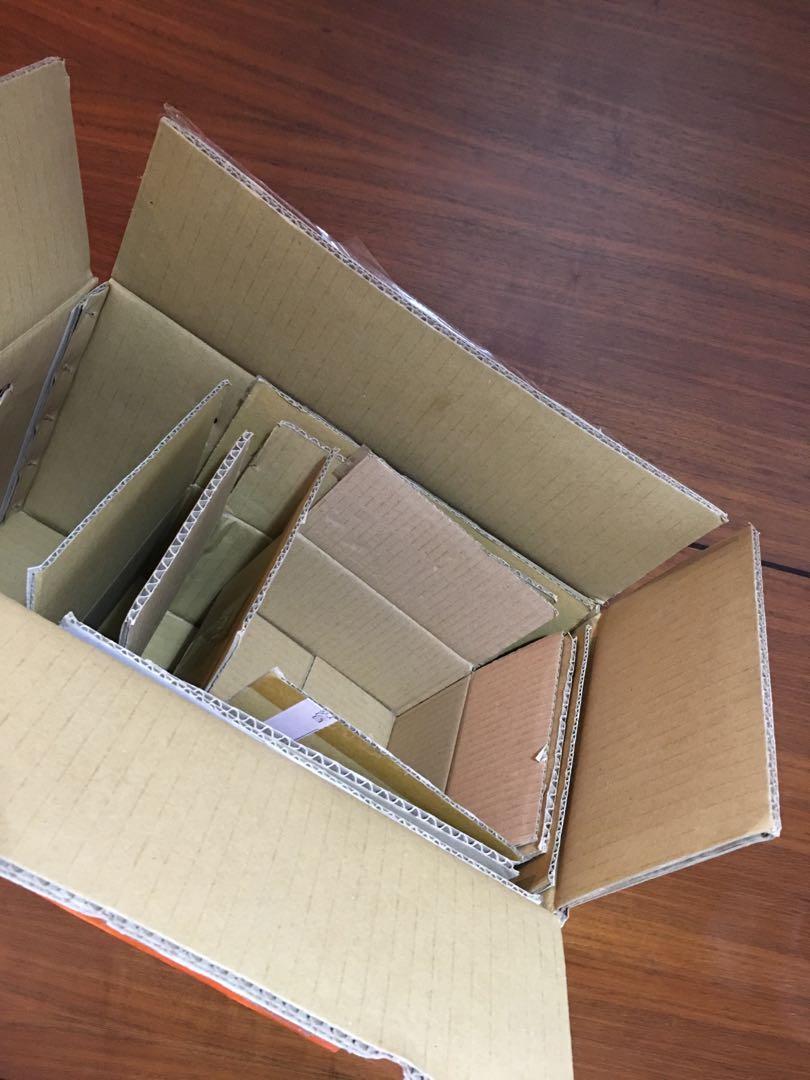 大中小紙盒(共五個)
