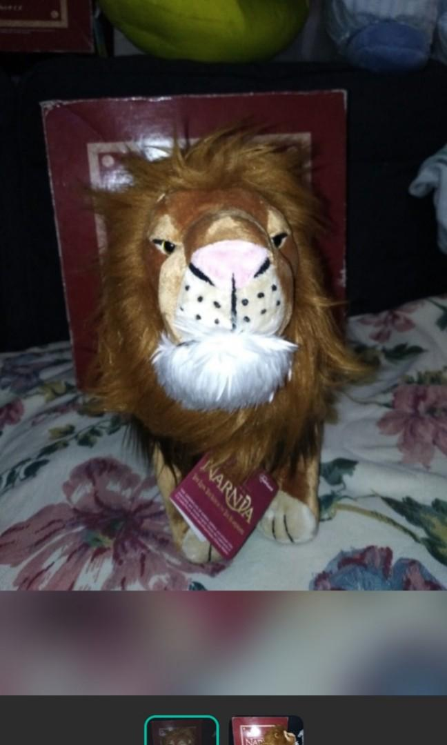 Scary Squeeze Stuffed Animals, Aslan From The Chronicles Of Narnia Stuffed Toy Plush Rare Toys Games Others On Carousell