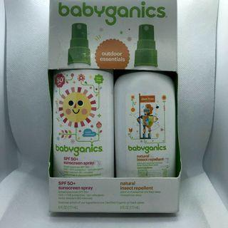 Babyganics Outdoor Essentials: SPF 50+ sunscreen spray and natural insect repellent