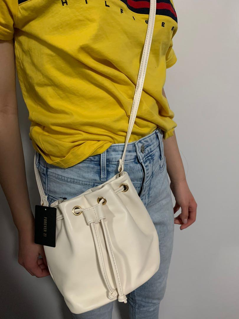 Cream Crossbody Bag