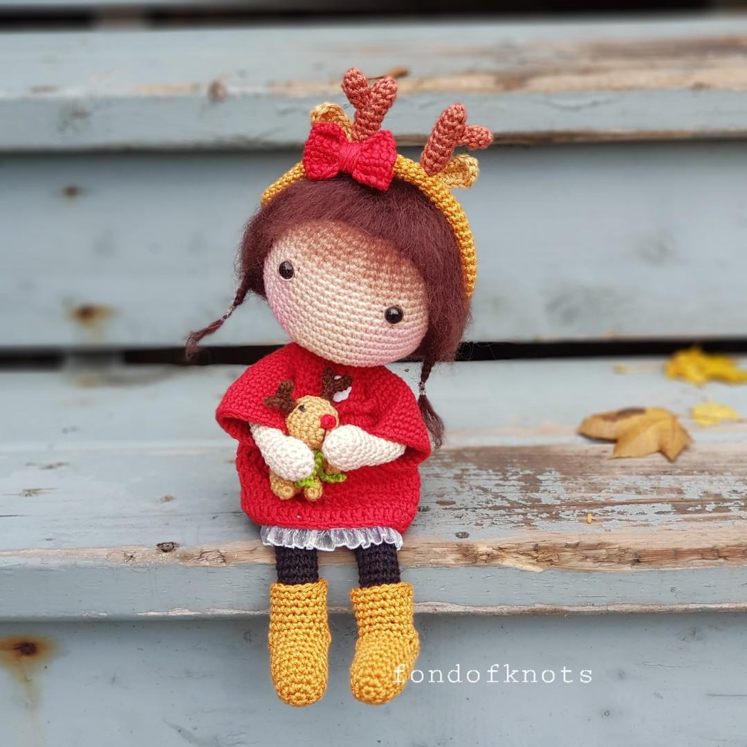 Crochet Abby Doll & Rudolph the red nosed reindeer