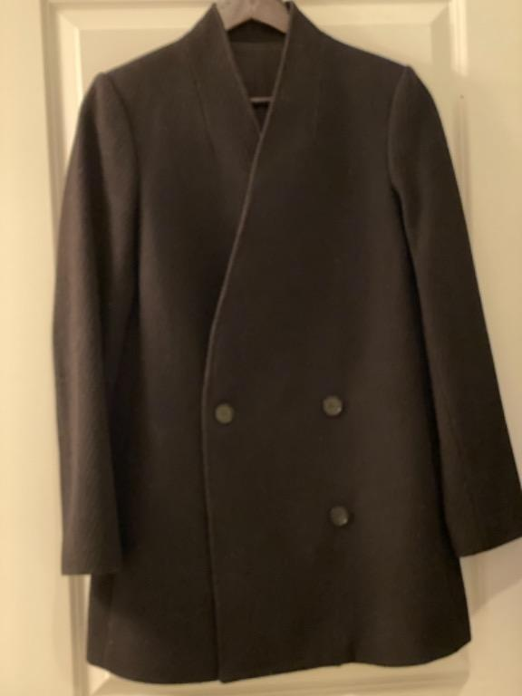 Custom tailored double breasted winter coat