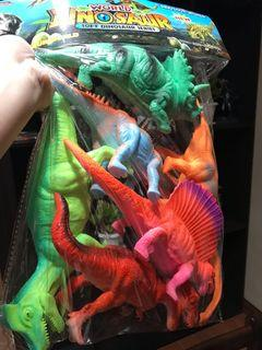 Dinosaurs Toy Set (Rubberized Material)