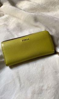Furla Leather Wallet Yellow (used)