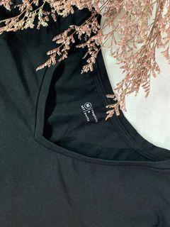 NET修身顯瘦V領短袖T恤
