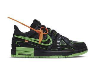 Nike X Off-White 'Green Strike' Rubber Dunks