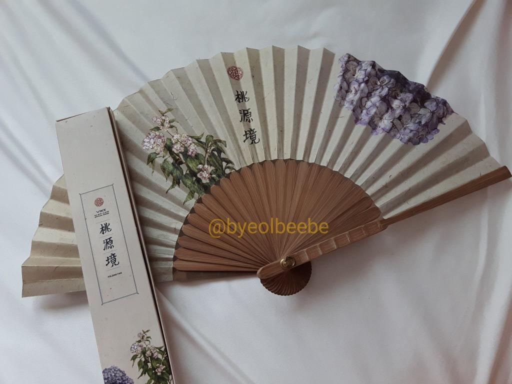 VIXX Shangri-la Official Goods Folding Fan - Flower (Rare Item)