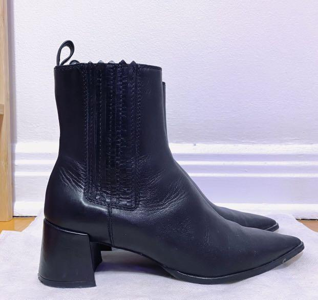 Zara leather ankle boots