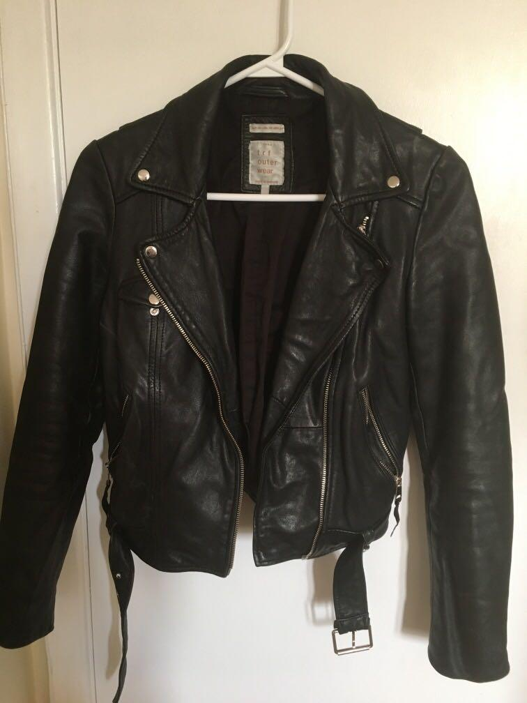 ZARA leather jacket XS