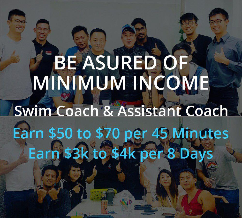 $5k High Pay Freelance Part Full Time Job Swim Coach For Kid
