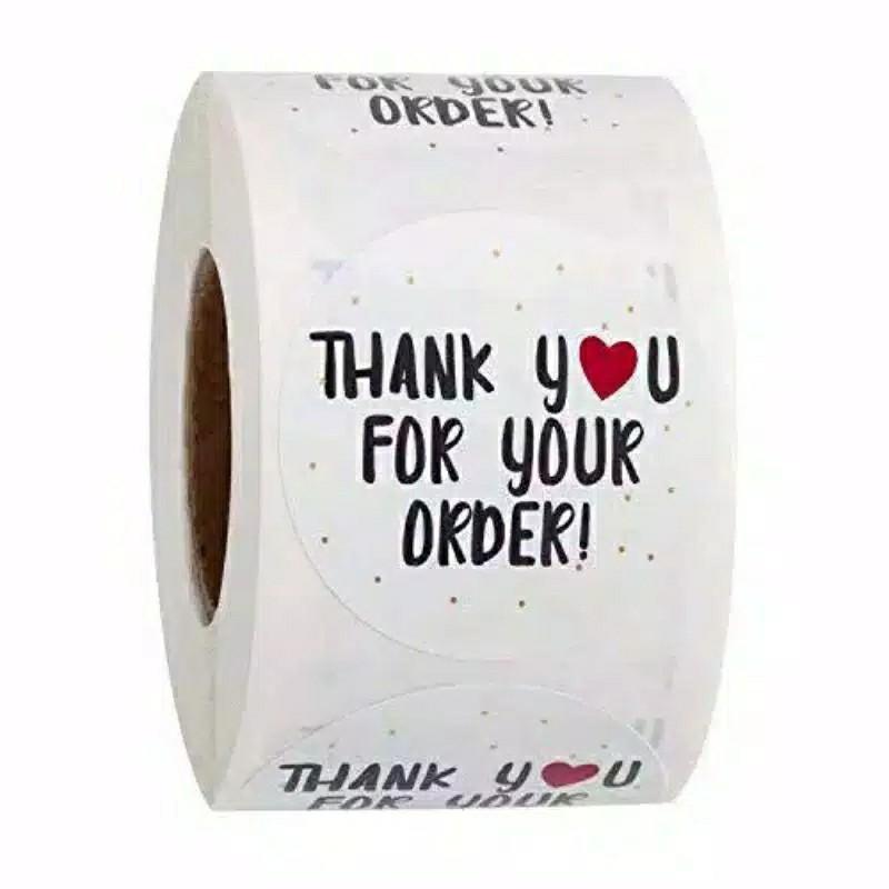 (5pcs) Stiker Label Thank You Segel Kemasan