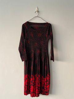 優雅的紅色連衣裙~