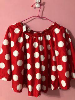 日本購入🇯🇵原宿風可愛圓點裙(紅底白點)