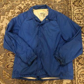 古著 風衣 外套 深藍色