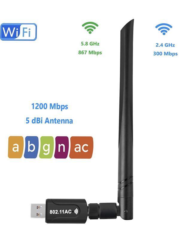 Brand new USB WiFi Adapter 1200 Mbps 5dBi Antenna