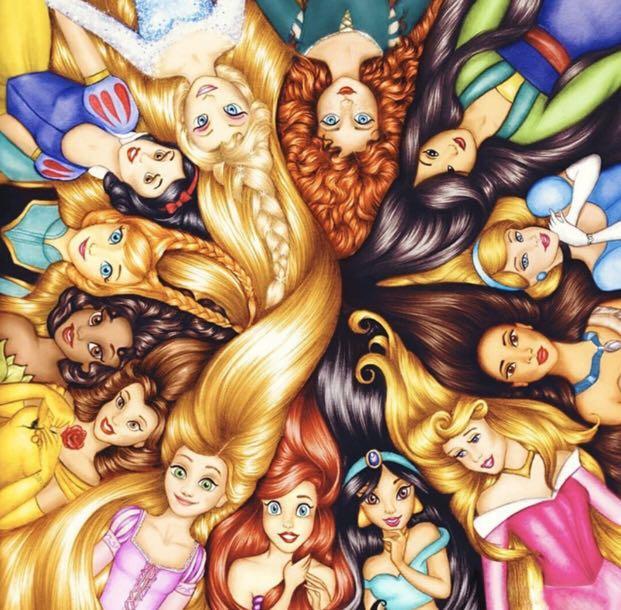 Disney Princess diamond painting 40x40cm