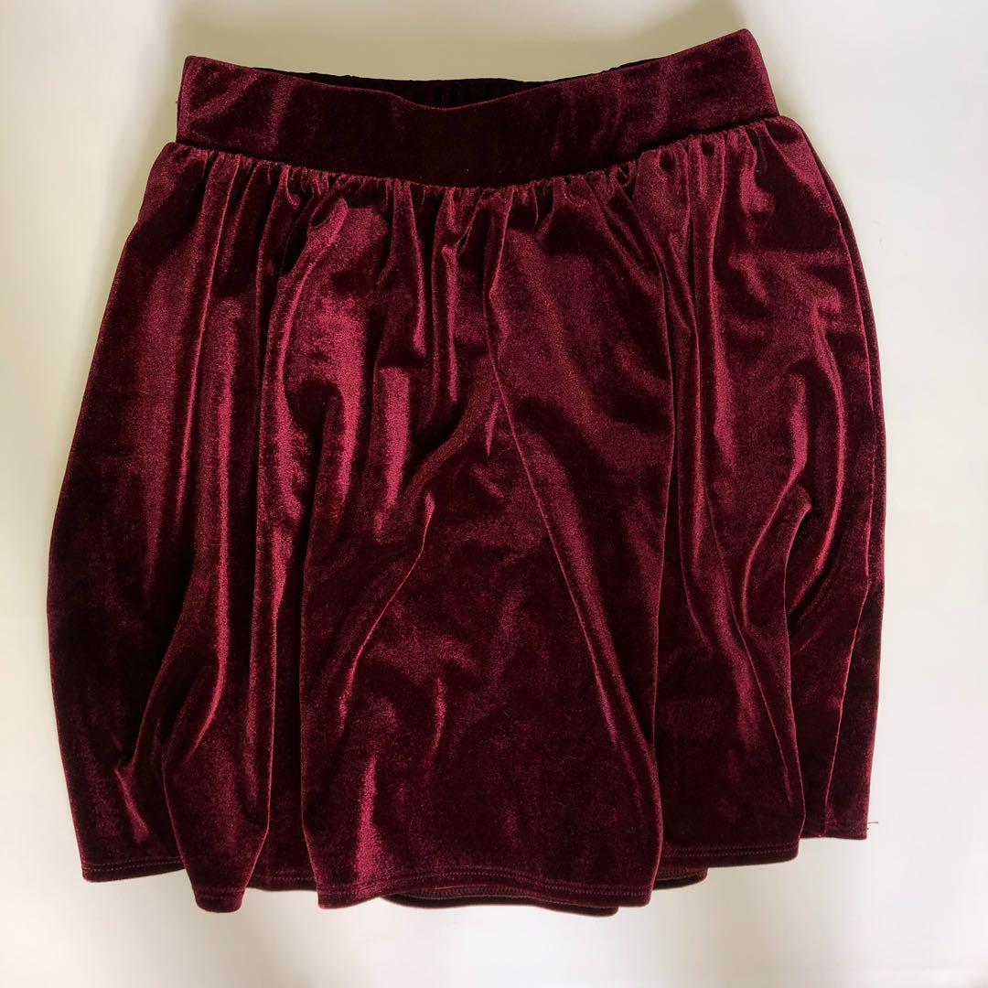 Garage Velvet Skirt